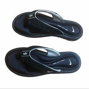 NIKE Comfort Flip Flops Black 8